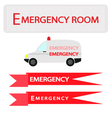 Ambulance with Emergency Banner vector image