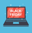 black friday poster with a laptop image vector image