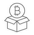 block reward thin line icon bitcoin and money vector image vector image