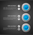 business web interface infographic template vector image vector image