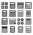 calculator icons set on white background vector image