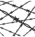 cartoon silhouette black barbed wire line vector image