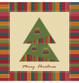 Christmas vintage greeting card vector image vector image
