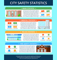 city buildings infographic poster vector image vector image