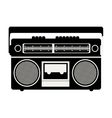 classic tape player device vector image vector image