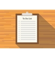 clipboard to do list paper vector image vector image