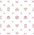 company icons pattern seamless white background vector image vector image