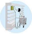 coronavirus in supermarket vector image vector image