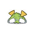 crying guacamole mascot cartoon style vector image vector image
