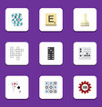 flat icon entertainment set of bones game mahjong vector image vector image