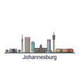 flat line johannesburg banner vector image vector image