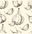 garlic handdrawn seamless pattern in the vector image vector image