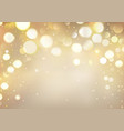 golden bokeh background with sparkling lights vector image vector image