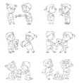 good and bad behavior of a child vector image