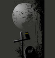 halloween background with an owl vector image vector image
