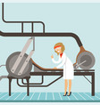 hocolate factory production line female vector image vector image