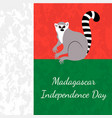 independence day in madagascar 26 june flag of vector image vector image