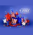 independence day - luxury background 4th vector image
