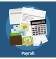 Invoice sheet paysheet or payroll icon vector image