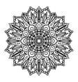 Isolated mandala pattern Vintage ethnic vector image vector image