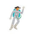 male cosmonaut or astronaut in space suit space vector image