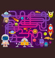 maze games find path for astronaut with space vector image vector image