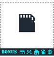 memory card icon flat vector image