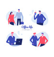 office life - flat design style characters vector image