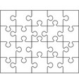 pieces of white puzzle vector image vector image
