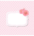 Pink Rose Label vector image vector image
