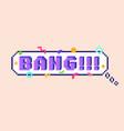 pixel bang sticker vector image