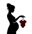 pregnant woman preparing for the birth of the baby vector image vector image
