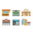 public buildings facades collection city street vector image vector image