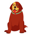 red dog in flat style vector image vector image