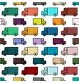 Retro toy trucks seamless pattern vector image