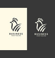 rooster creative leaf concept logo design template vector image vector image