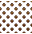 round chocolate biscuit pattern seamless vector image vector image