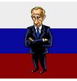 Russian President Vladimir Putin Cartoon vector image vector image