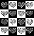 seamless pattern squares with hearts vector image