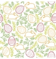 Seamless pattern with Easter bunny eggs and vector image vector image
