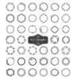 set of beautiful wreath vector image vector image