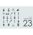 Set of manicure icons vector image
