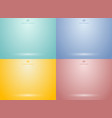 set of studio room green mint red yellow blue vector image vector image