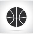 silhouette basketball ball vector image