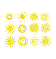 sketch sun icons funny doodles sun vector image