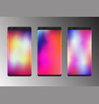 smartphone with abstract colorful gradient screen vector image vector image