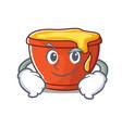 smirking honey character cartoon style vector image vector image