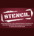 stencil font graffiti spray painted alphabet vector image