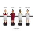 Table football soccer players Group G vector image