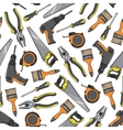 Tools and equipment seamless pattern vector image